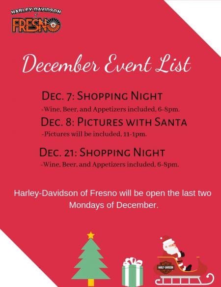 December Event List