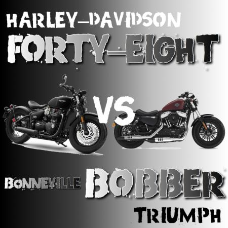 FORTY-EIGHT VS BONNEVILLE BOBBER