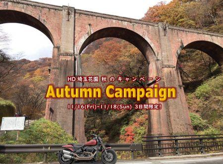 11/16~11/18 Autumn Campaign(秋のキャンペーン)開催!