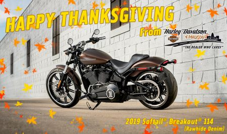 Happy Thanksgiving from H-D of Madison!