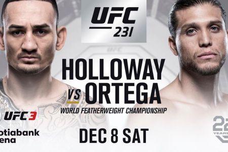 UFC 231 Halloway VS Ortega at San Diego Harley-Davidson