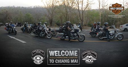 Welcome H.O.G Chongqing Chapter to Chiang Mai