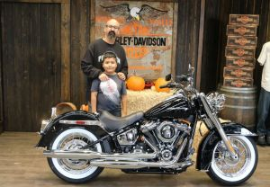 Mauricio and his son Mauricios new Softail Deluxe!