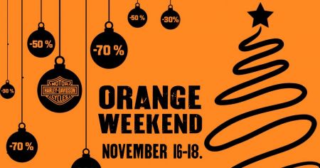ORANGE WEEKEND - NOVEMBER 16-18.