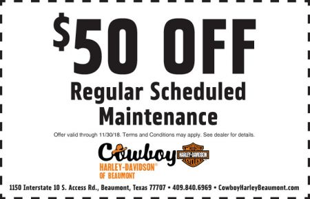 November Service Coupon - $50 off Regular Scheduled Maintenance