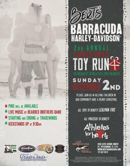 Bert's Barracuda 2nd Annual Toy Run