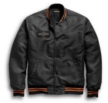 Harley-Davidson® Men's Distressed Eagle Bomber Jacket | Slim Fit