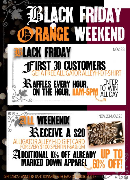 Black Friday, Orange Weekend
