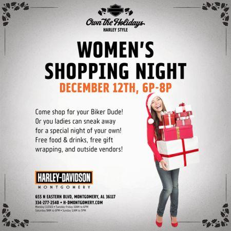 WOMEN'S SHOPPING NIGHT!
