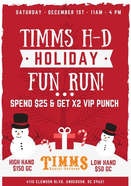 Timms Harley Davidson S Holiday Fun Run Timms Harley Davidson