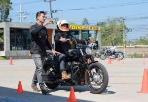กิจกรรม RIDING COURSE หลักสูตรแนะนำการขับขี่มอเตอร์ไซค์ Harley-Davidson  (วันที่สอง-25 พ.ย. 2561)
