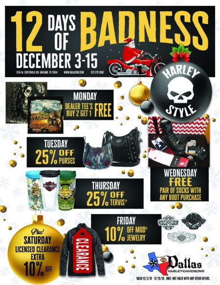 Harley-Davidson® 12 Days of Badness