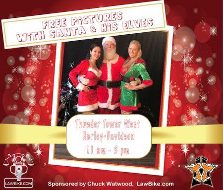 Lawbike presents...Photos with Santa & His Elves
