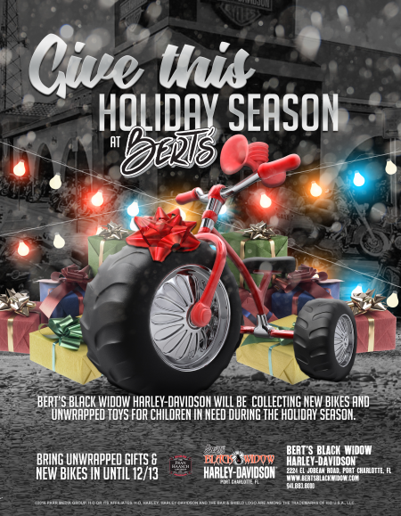 Bike & Toy Drive at Bert's Black Widow H-D