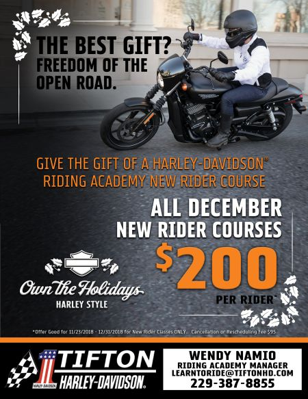 ALL DECEMBER NEW RIDER COURSES