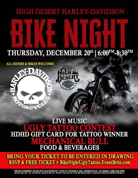 Dec 20th Bike Night