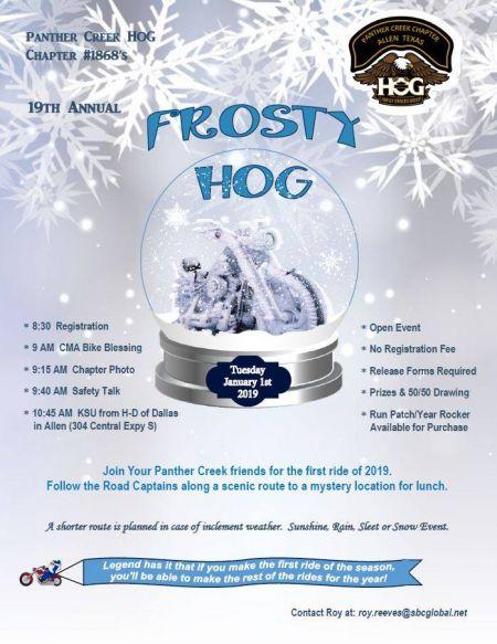 19th Annual Frosty HOG Ride