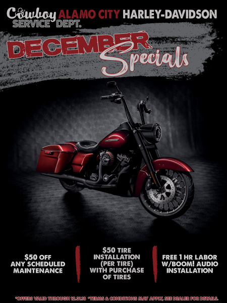 December Service Department Specials