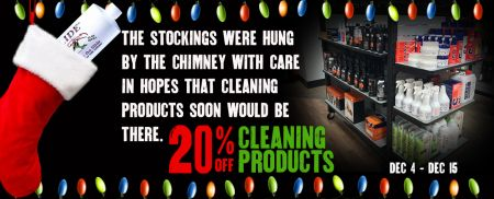 20% OFF Cleaning Products!
