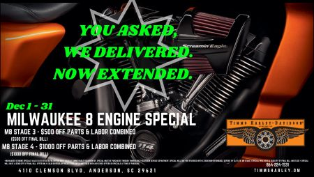 Milwaukee Eight Engine Special Extended