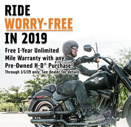 Ride Worry-Free in 2019!