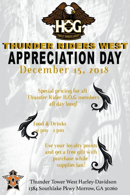 Thunder Riders H.O.G. Chapter Appreciation Day