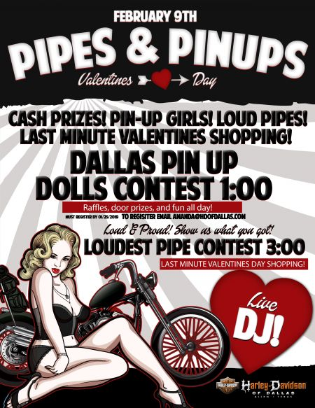 PIPES AND PIN UPS VALENTINES DAY