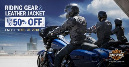 Up to 50% Discount on Riding Gear and Leather Jackets