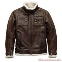 HAXEN SLIM FIT LEATHER JACKET