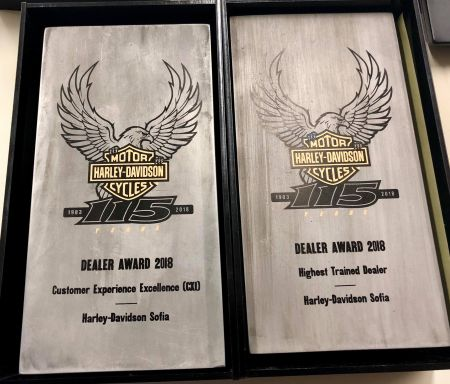 Harley-Davidson Sofia с две награди от тазгодишната среща на дилърите за Европа