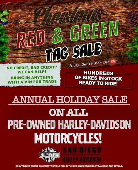 EXTENDED! Red & Green Used Bike Tag Sale