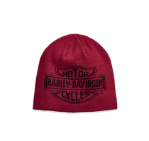 HAT-OVERSIZED LOGO,KNT,RED