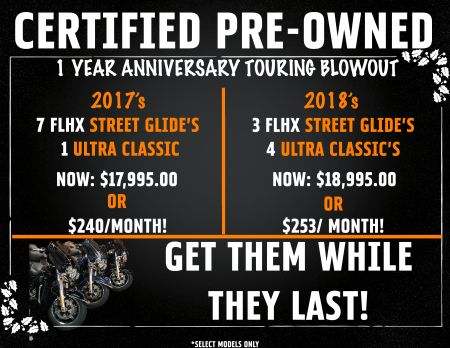 Certified Pre-Owned Touring Blowout