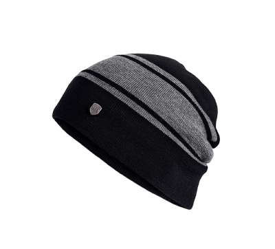 HAT-WOOL SLOUCH,KNT,BLK