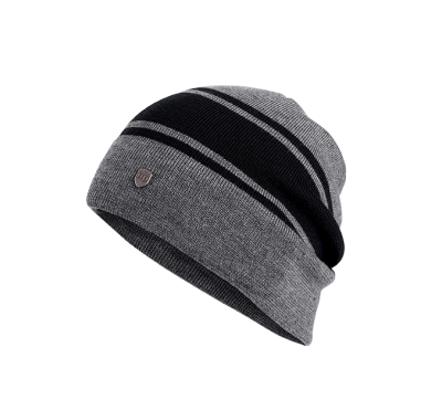 HAT-WOOL SLOUCH,KNT,GRY