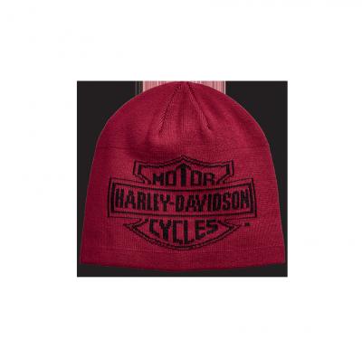 HAT-OVERSIZED LOGO,KNT,RED