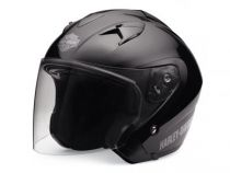 HELMET SUN SHIELD 3/4 GLOSS BLACK