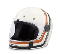 VINTAGE STRIPE FULL FACE HELMET