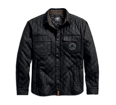 JACKET-QUILTED CANVAS,CTTN,BLK