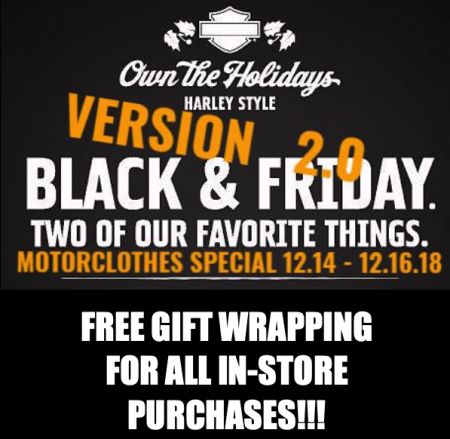 BLACK FRIDAY 2.0!!! FROM 12.14 - 12.16.18