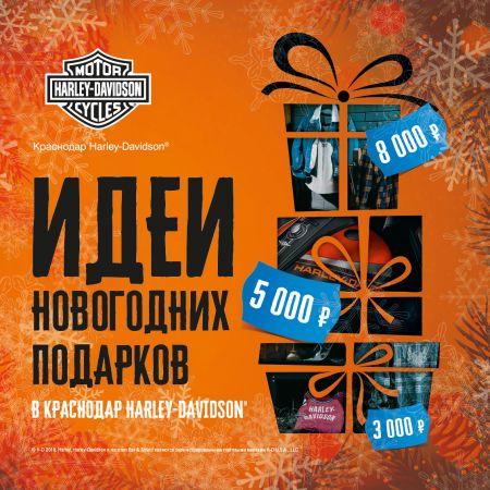 Оригинальные решения для новогодних подарков в Краснодар Harley-Davidson!