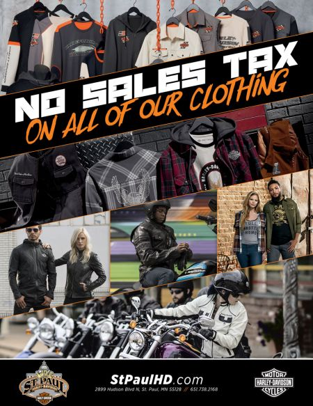 No sales tax on clothing.