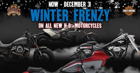 Winter Frenzy on all new Harley-Davidson Models!