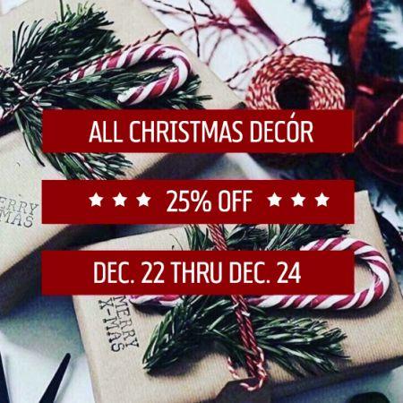 25% off Christmas Decor