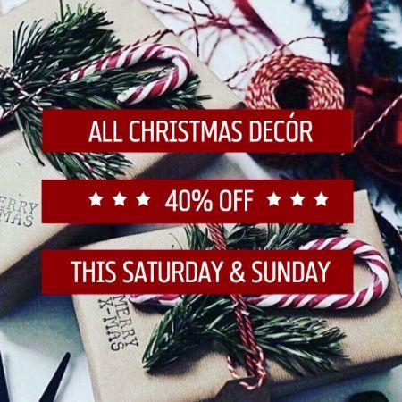 40% off Christmas Decor