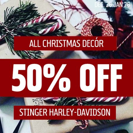 50% off Christmas Decor