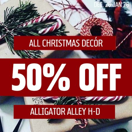 50% off All Christmas Decor