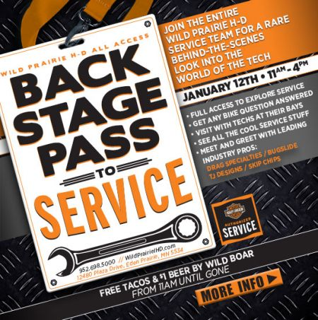 Backstage Pass to Service!