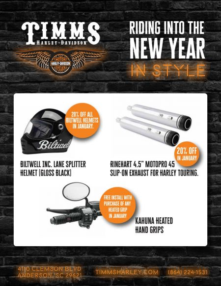 Timms Harley-Davidson New Year Promo