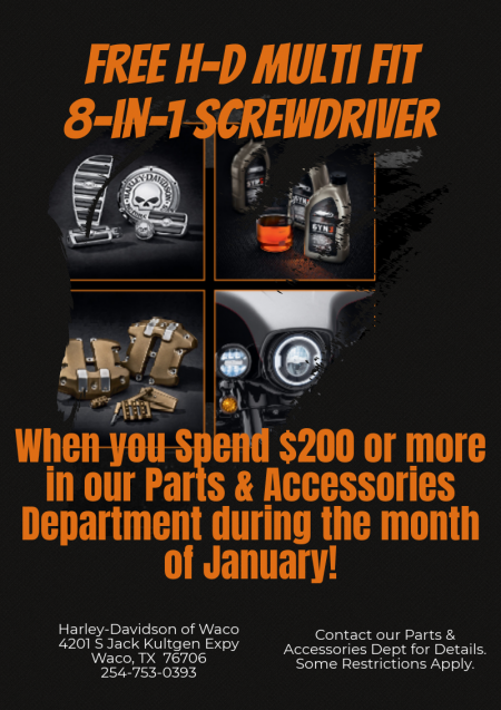 Parts & Accessories free gift with purchase